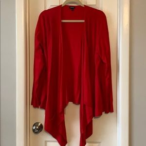 Torrid drapey high low red cardigan sweater 2